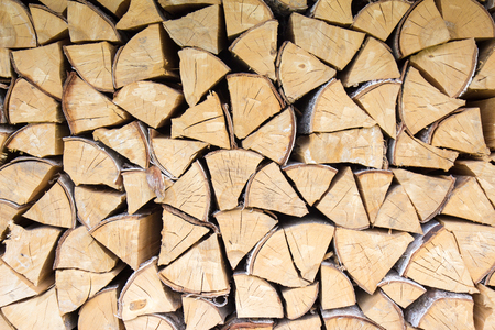 Chopped firewood pieces close up photo background Stock fotó