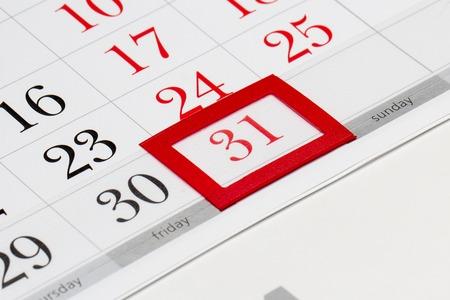 Pagina del calendario con marcata data del 31 dicembre 2016 Archivio Fotografico
