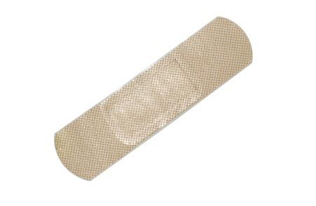 Adhesive bandage isolated on white with path