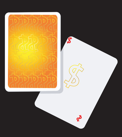 Playing cards with dollar signs Stock Vector - 1640437