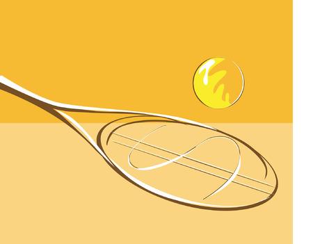 tennis-racket with dollar symbol Stock Vector - 1640381