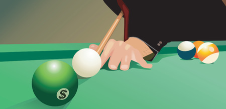 pool ball: Pool ball with dollar sign