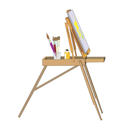 color mixing: Easel