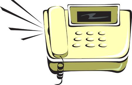 Phone ringing Illustration