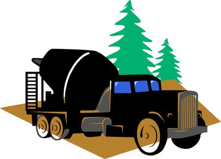 Cement  Mixer lorry Stock Vector - 1674348
