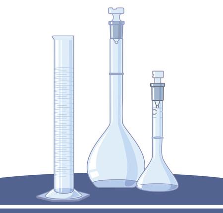 material de vidrio: - Laboratorio de vidrio y cristal,  Vectores