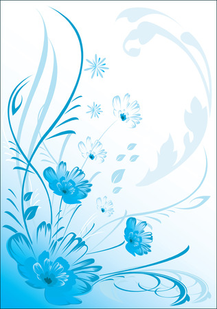 abstractive: floral ,Abstractive  background Illustration