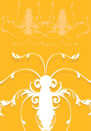 Image of Insect made of floral designs Stock Vector - 1674639