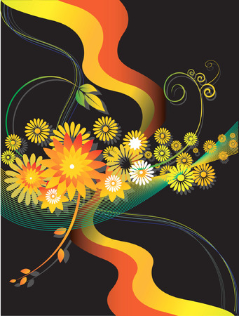 Floral avec dessins de fleurs et de v�tements de vol