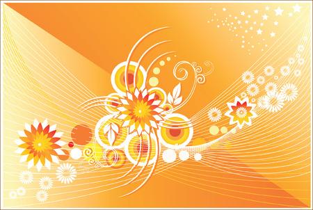 Motifs floraux de fleurs et tourbillons