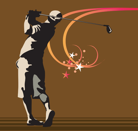 recreational pursuit: Man playing golf