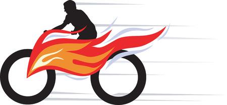 モーター バイクの競争  イラスト・ベクター素材