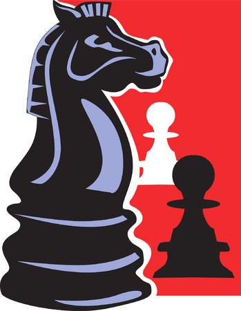 3d chess board: Chess pawns,
