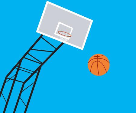 Basket ball court Stock Vector - 1675336