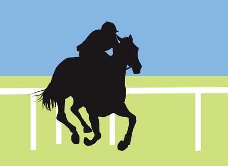 joust: jockey raiding hours Illustration