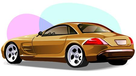 car showroom: Prestigio de coches  Vectores