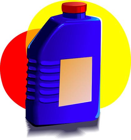 lube: Engine oil bottle Illustration