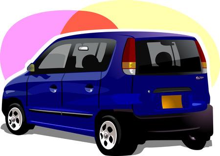 motorised: Luxury car  Illustration