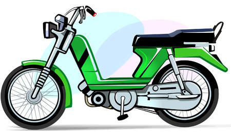 moped: Motorcycle Illustration