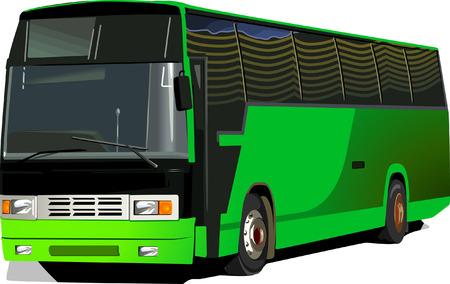 mode of transportation: Autobus di lusso Vettoriali