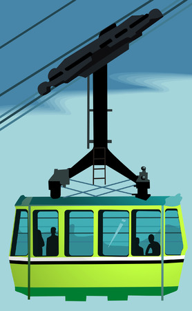 cable car: Overhead Cable Car, Illustration