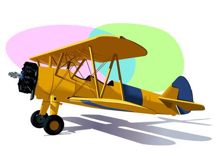 航空ショー: アクロバティックな活動  イラスト・ベクター素材