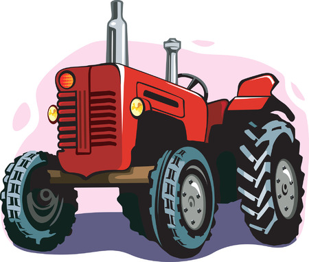 farm machinery: Tractor Illustration
