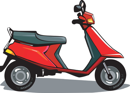 moped: Scooter, Illustration