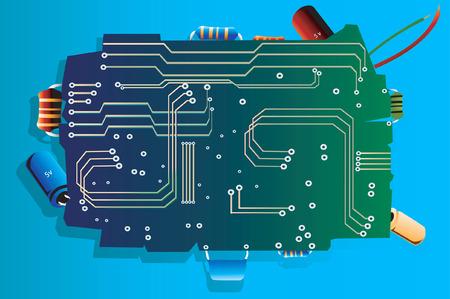 Electronic board Vector