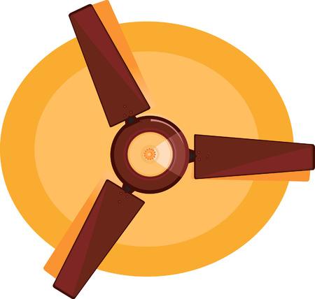 Brown Ceiling fan Vector