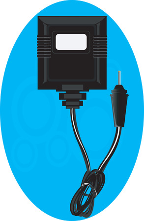 electrify: Back view of an Adaptor Illustration