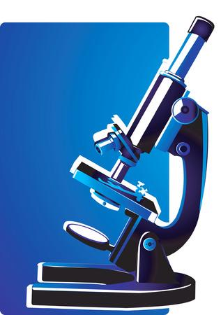 Microscope ready to focus Stock Vector - 1676189