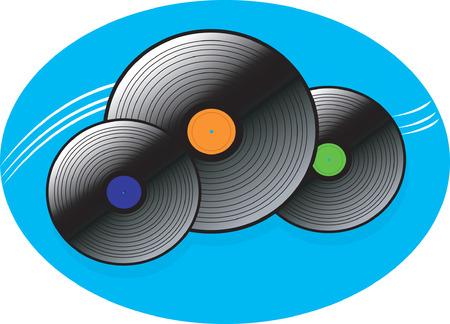 discjockey: Three musical discs