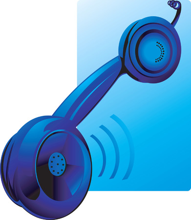 hang up: Blue hanging receiver with sound