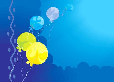 public celebratory event: Colourful balloons as border