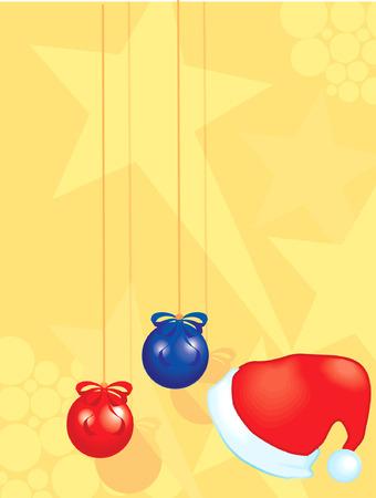 Santa clause cap and balloons Stock Vector - 1697160