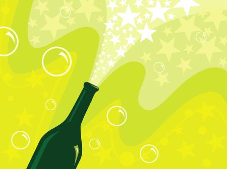 C�l�brons avec du champagne  Illustration