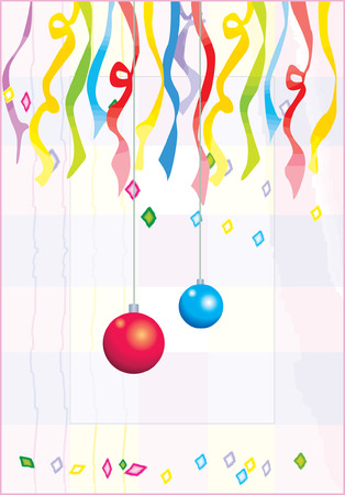 celebratory event: Hanging balloons and ribbons on a celebration with decorations all around Illustration