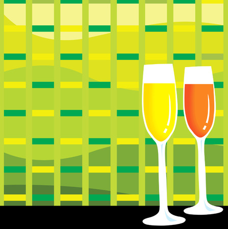 redwine: Two glasses of wine in colourful background