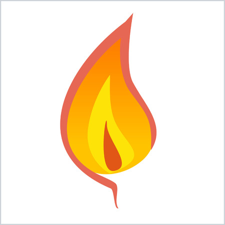 core: Flame with inner core and outer core