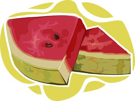 plantain: Two slice of watermelon