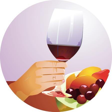 mezcla de frutas: Mezclas de frutas y vino