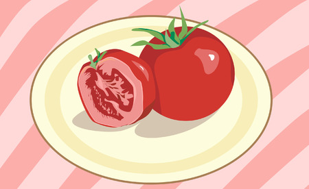 dieting: Tomatoes on the plate
