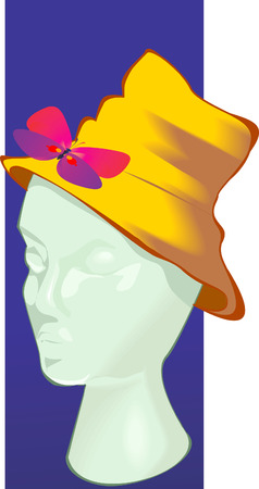 coif: beautiful cap with a butterfly on Dummy