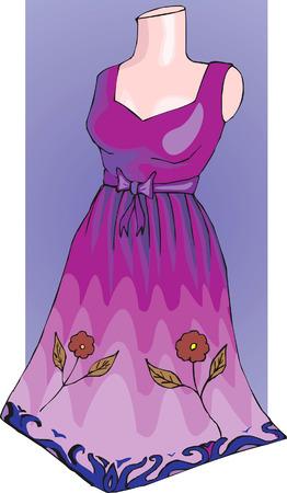 frock: Ladies dress displayed on dummy