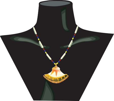 diamond earrings: Necklace displayed on dummy