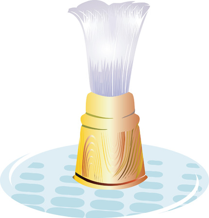 Shaving Brush on a glass plate. Stock Vector - 1702524