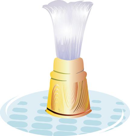 shaving brush: Shaving Brush on a glass plate.