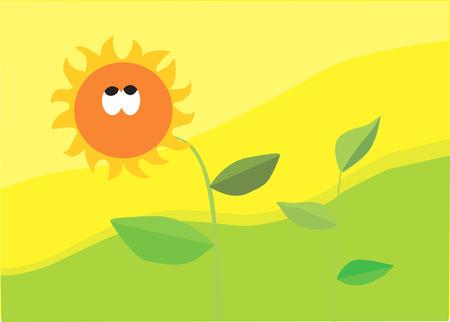 zauberhaft: Sonnenblume mit Bl�ttern in einer bezaubernden Umgebung