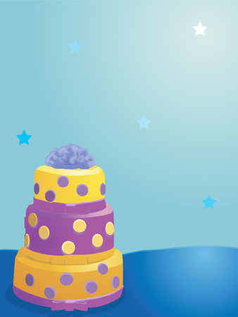 flavorful: Cake layered, Illustration